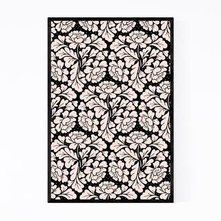 Noir Gallery Baroque Digital Floral Pattern Framed Art Print