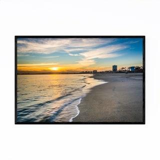 Noir Gallery Long Beach California Sunset Framed Art Print