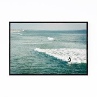 Noir Gallery Oceanside California Surfing Framed Art Print