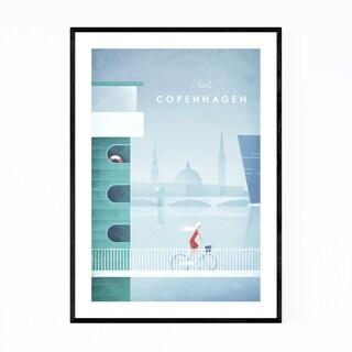 Noir Gallery Minimal Travel Poster Copenhagen Framed Art Print