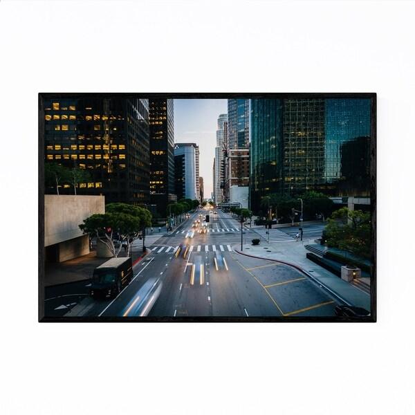 Shop Noir Gallery Cityscape Downtown Los Angeles Framed Art Print