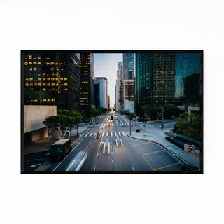 Noir Gallery Cityscape Downtown Los Angeles Framed Art Print
