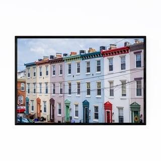 Noir Gallery Colorful Houses Philadelphia Framed Art Print