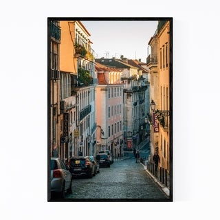 Noir Gallery Street Bica Lisbon Portugal Framed Art Print