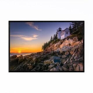 Noir Gallery Bass Harbor Lighthouse Acadia ME Framed Art Print