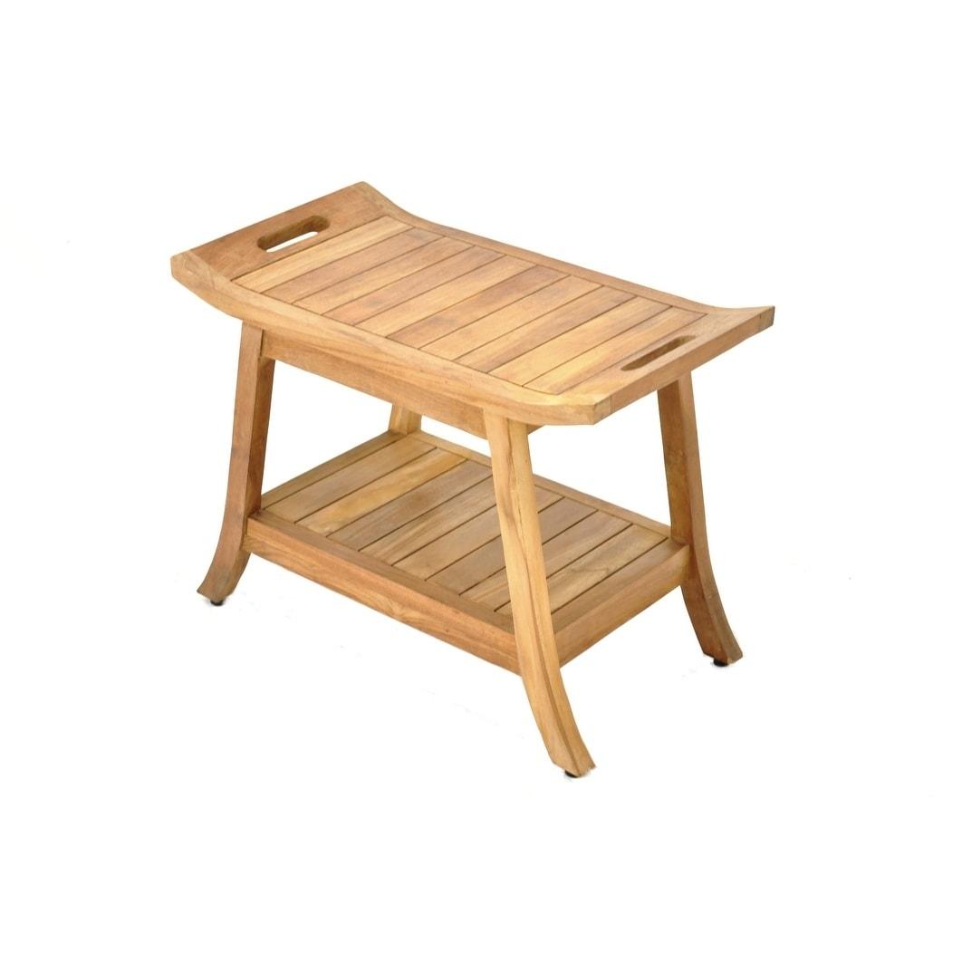 Miraculous Olas Natural Finish Teak Wood Bench Small Ibusinesslaw Wood Chair Design Ideas Ibusinesslaworg