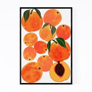 Noir Gallery Peach Fruit Food Kitchen Framed Art Print
