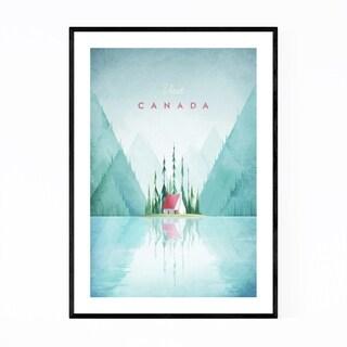 Noir Gallery Minimal Travel Poster Canada Framed Art Print