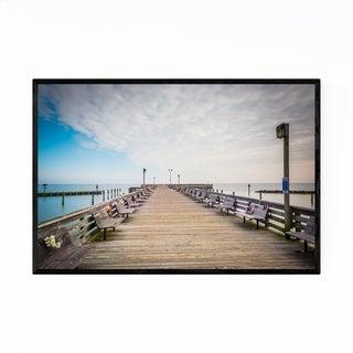 Noir Gallery Chesapeake Beach Maryland Pier Framed Art Print