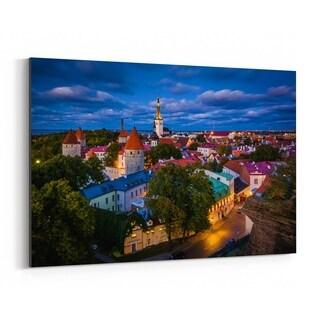 Noir Gallery Tallinn Estonia Europe Old Town Canvas Wall Art Print
