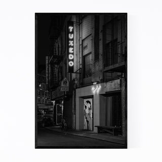 Noir Gallery Black & White New York Chinatown Framed Art Print