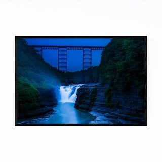 Noir Gallery New York Letchworth Waterfall Framed Art Print