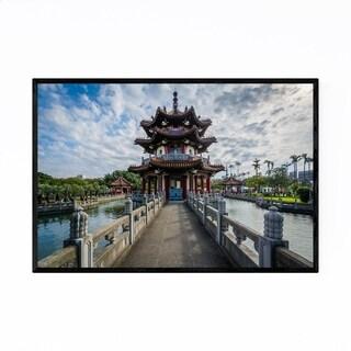 Noir Gallery Taipei Taiwan Park Pagoda Pond Framed Art Print