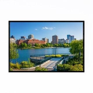 Noir Gallery Boston Charles River Skyline Framed Art Print