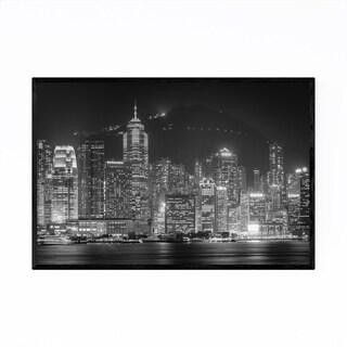 Noir Gallery Hong Kong Skyline Cityscape Framed Art Print