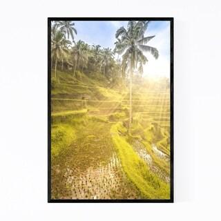 Noir Gallery Bali Indonesia Rice Terrace Framed Art Print