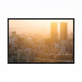 Noir Gallery Taipei Taiwan Skyline Cityscape Framed Art Print