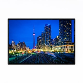Noir Gallery Downtown Toronto City Skyline Framed Art Print