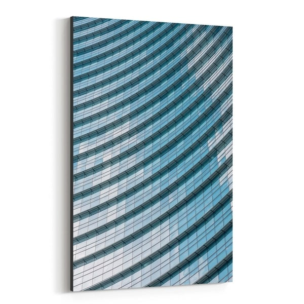 Noir Gallery Modern Architecture Milan Italy Canvas Wall Art Print