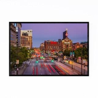 Noir Gallery Inner Harbor Cityscape Baltimore Framed Art Print