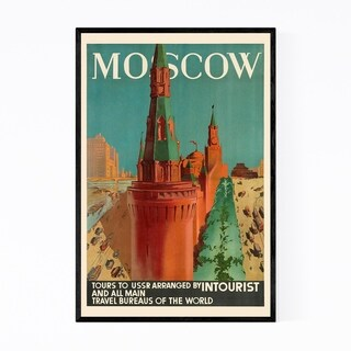 Noir Gallery Moscow Russia Vintage Poster Framed Art Print