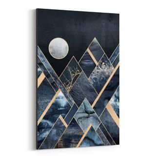 Noir Gallery Mountains Digital Geometric Canvas Wall Art Print