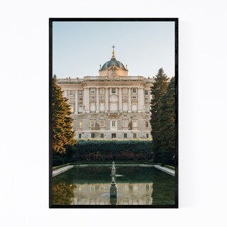 Noir Gallery Madrid Spain Royal Palace Garden Framed Art Print