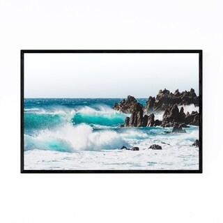 Noir Gallery Lanzarote Canary Islands Waves Framed Art Print