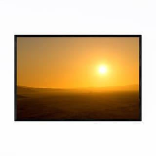 Noir Gallery Namibia Desert Sunset Landscape Framed Art Print