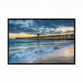 Noir Gallery Seal Beach California Pier Framed Art Print