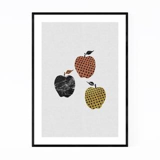Noir Gallery Apple Kitchen Illustration Fruit Framed Art Print