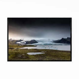 Noir Gallery Iceland Landscape Nature Photo Framed Art Print
