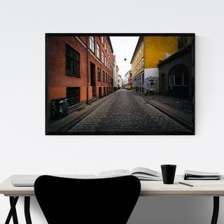 Noir Gallery Copenhagen Denmark Street Framed Art Print