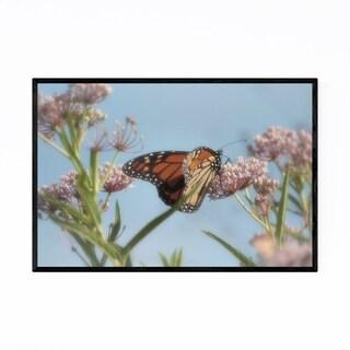 Noir Gallery Monarch Butterfly Flower Nectar Framed Art Print
