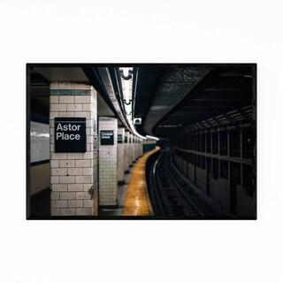 Noir Gallery New York City Subway Astor Place Framed Art Print