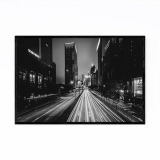 Noir Gallery Hong Kong Wan Chai Skyline Framed Art Print