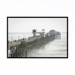 Noir Gallery Oceanside California Pier View Framed Art Print