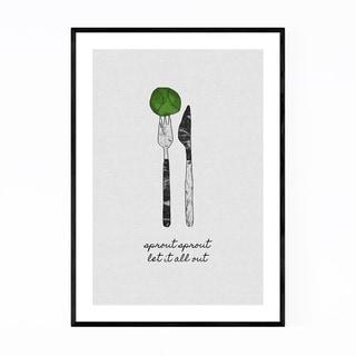 Noir Gallery Kitchen Fork Knife Cooking Quote Framed Art Print