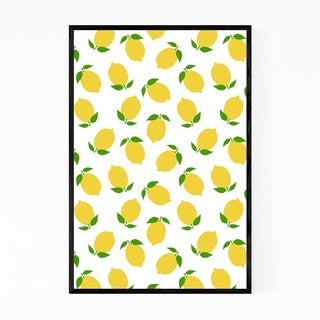 Noir Gallery Lemon Kitchen Fruit Pattern Framed Art Print