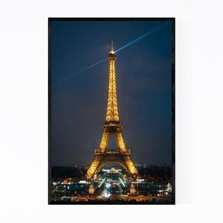Noir Gallery Eiffel Tower Night Paris France Framed Art Print
