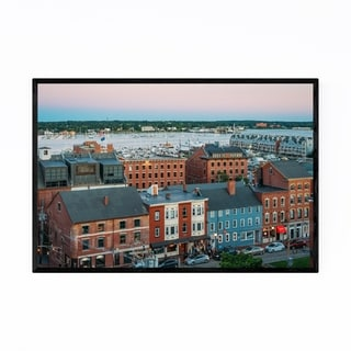 Noir Gallery Portland Maine Skyline View Framed Art Print
