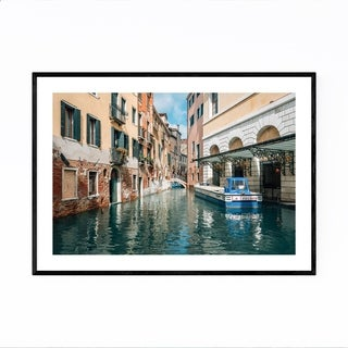 Noir Gallery Venice Italy Canal Photography Framed Art Print