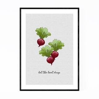 Noir Gallery Cute Kitchen Beet Food Cooking Framed Art Print
