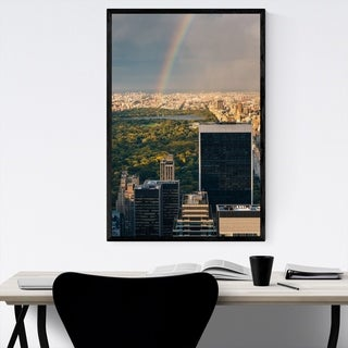 Noir Gallery Midtown Manhattan Skyline NYC Framed Art Print