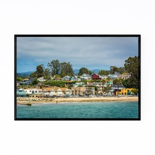 Noir Gallery The Beach in Capitola California Framed Art Print