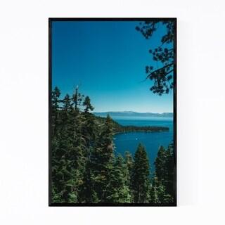 Noir Gallery Emerald Bay Lake Tahoe Mountains Framed Art Print