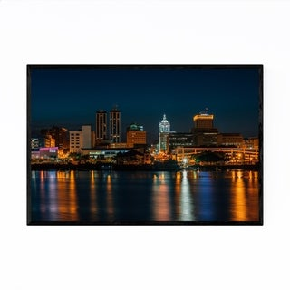 Noir Gallery Peoria, Illinois Skyline Framed Art Print