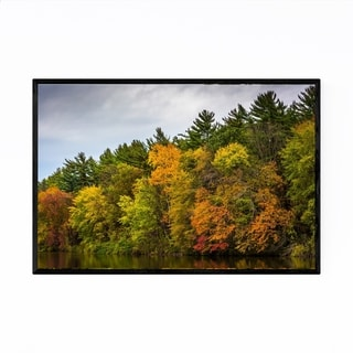 Noir Gallery Autumn Fall Color on Lake Nature Framed Art Print
