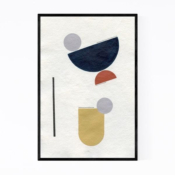 Shop Noir Gallery Abstract Minimal Geometric Shape Framed