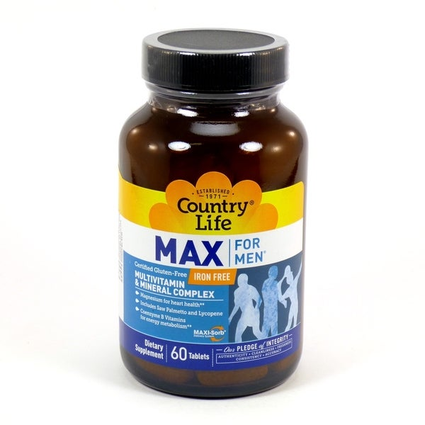 reputable site 2db25 6d6ec Country Life Max for Men 60 Tablets